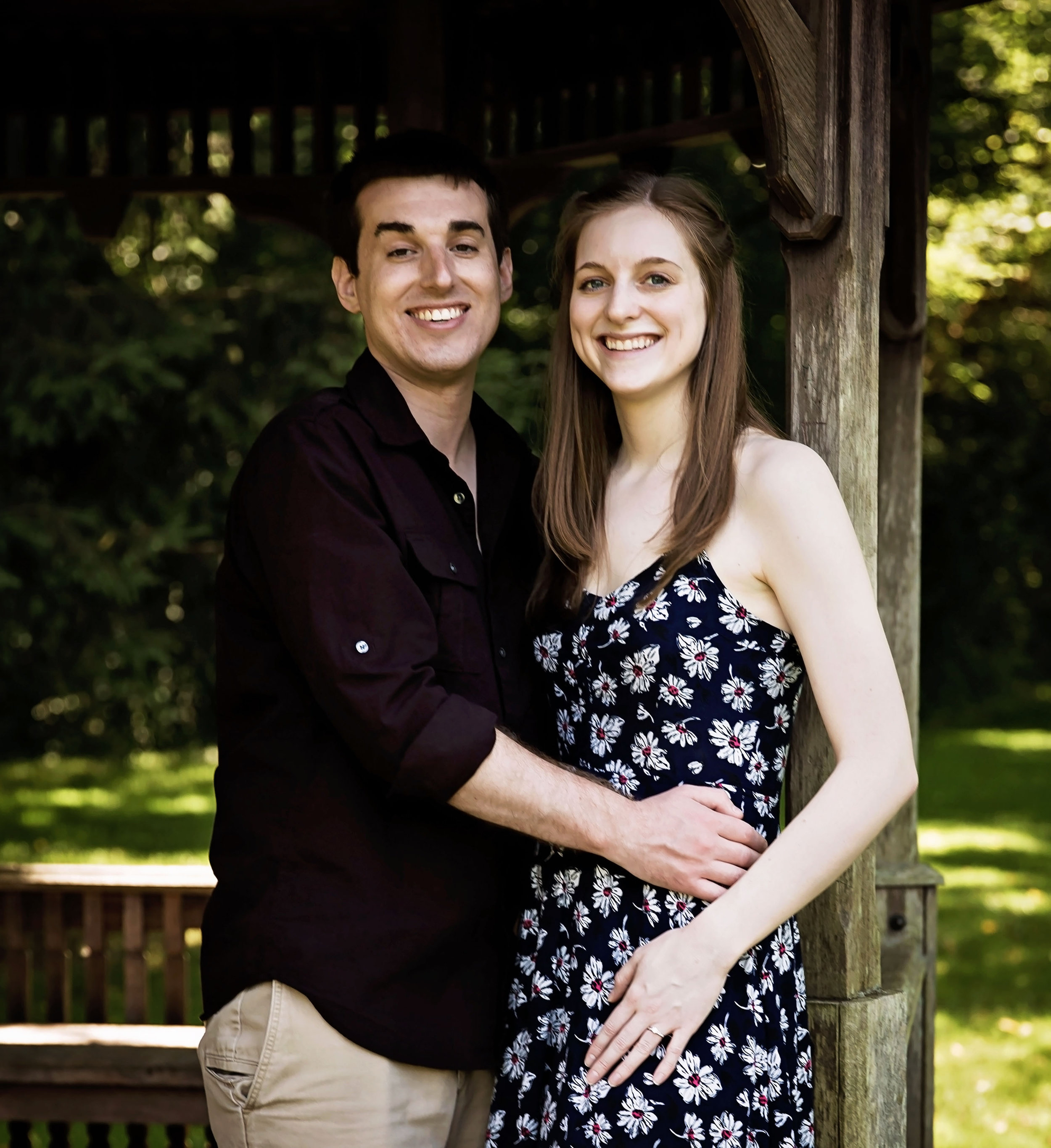 Holcomb Gardens Summer Engagement Session Indiana
