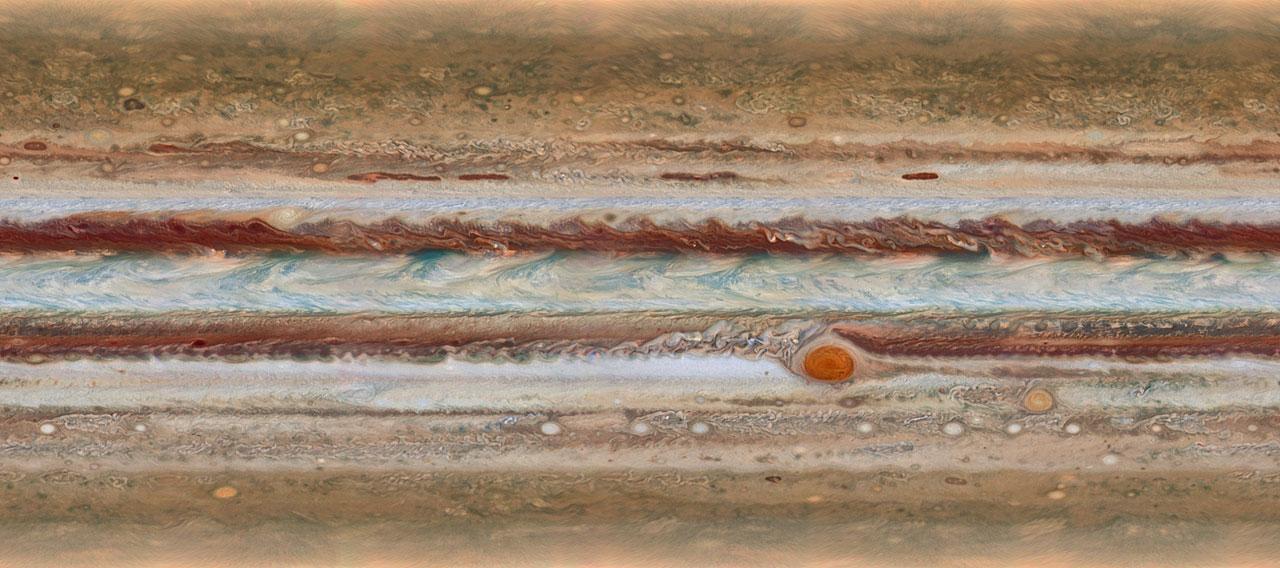 Image credit: NASA, ESA, A. Simon (GSFC), M. Wong (UC Berkeley), and G. Orton (JPL-Caltech)