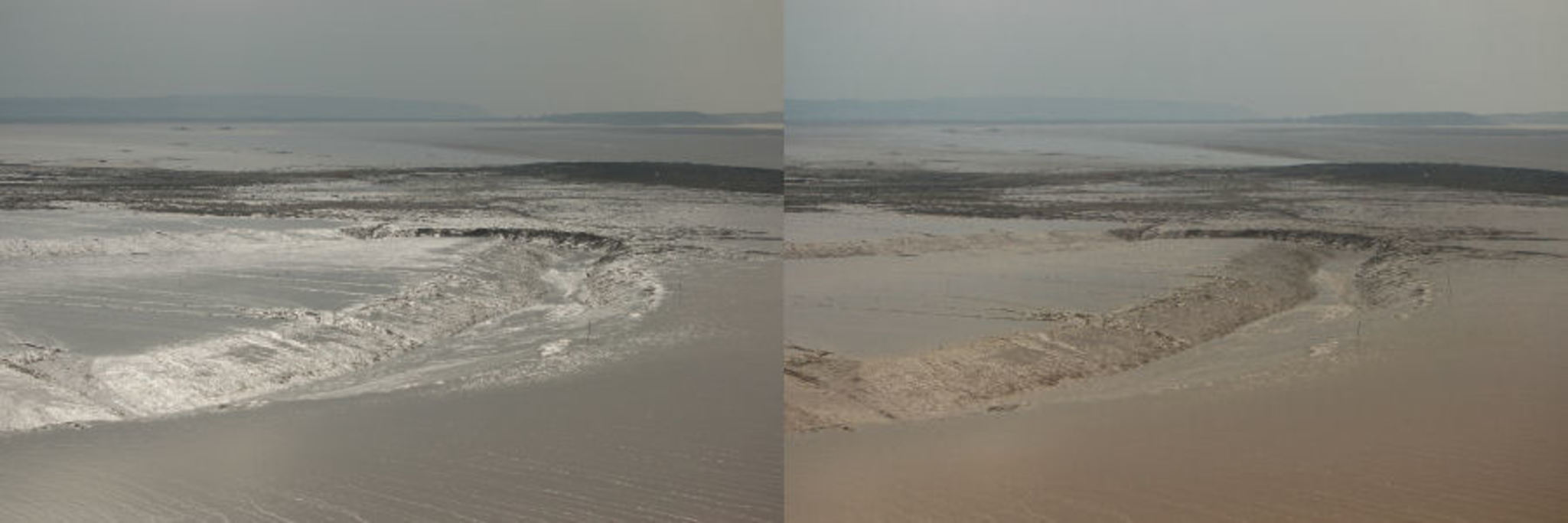 By rotating a polarising filter, we can block light of certain polarisation. This is how polarised sunglasses cut the glare from puddles and the ocean on a sunny day. - Image Credit:   Wikimedia   ,   CC BY-SA
