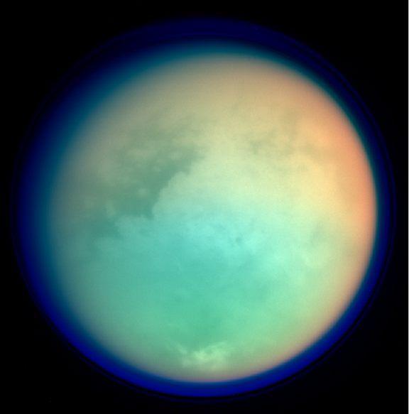 Could Titan's methane lakes host life?    – Image Credit Alfred McEwen/NASA