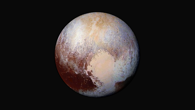 Could Pluto hide liquid water far beneath its surface?  - Image Credit:  NASA
