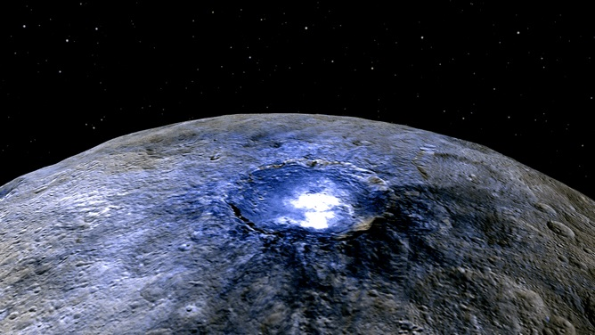 Ceres: a bright spot in planetary exploration. - Image Credit:   NASA/JPL-Caltech/UCLA/MPS/DLR/IDA
