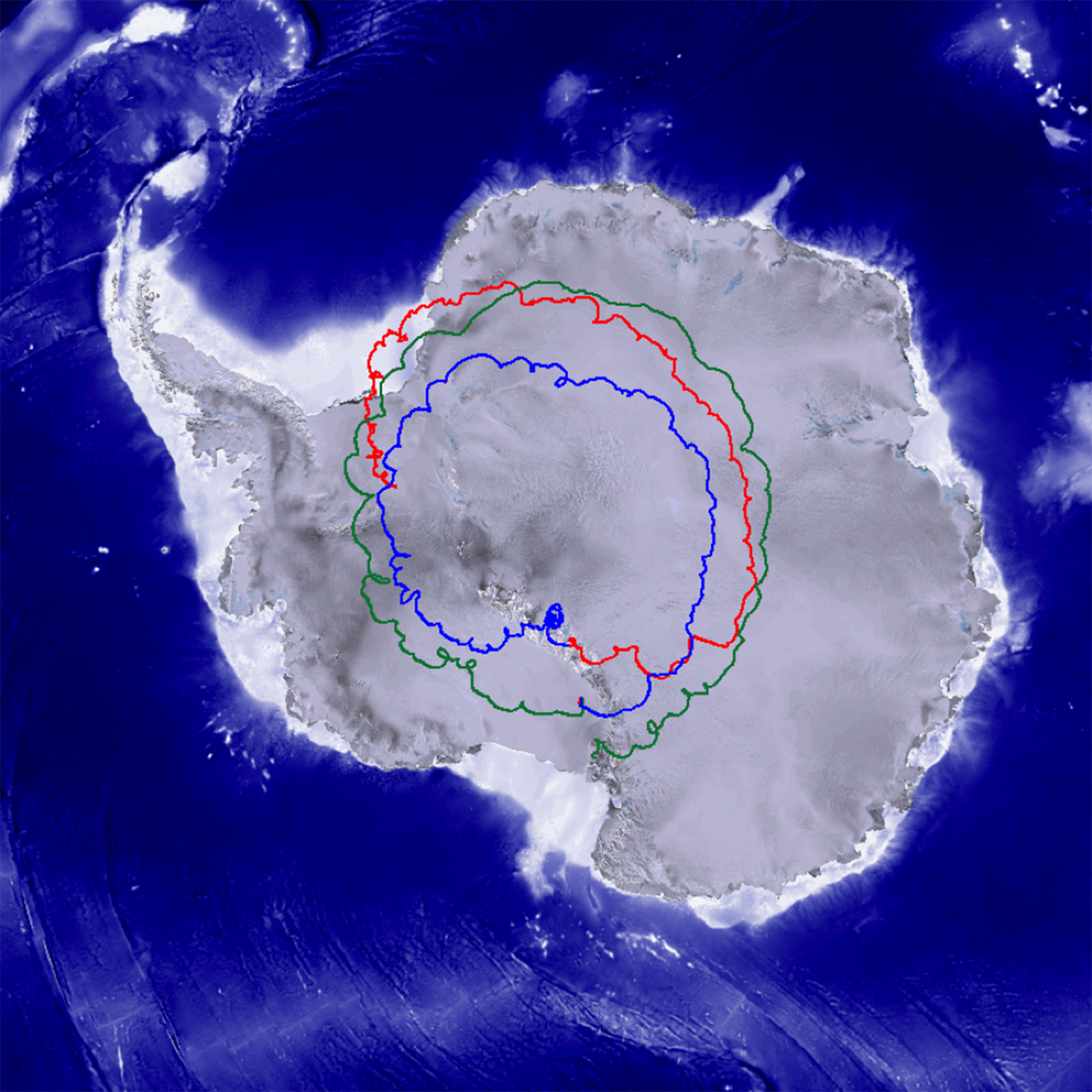 The groundtrack of the Super-TIGER mission, which flew from Antarctica during the 2012/2013 campaign, is shown here. Over the record-breaking 55 day, 1 hour and 24 minute flight, the balloon completed nearly three revolutions about the south pole due to a weather phenomena known as an anticyclone - Image Credits: NASA/file photo