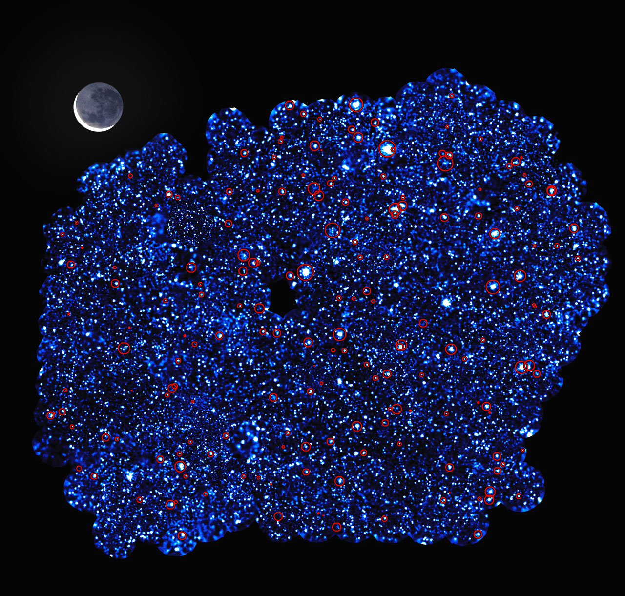 X-ray image of the XXL-South Field - Image Credit: ESO