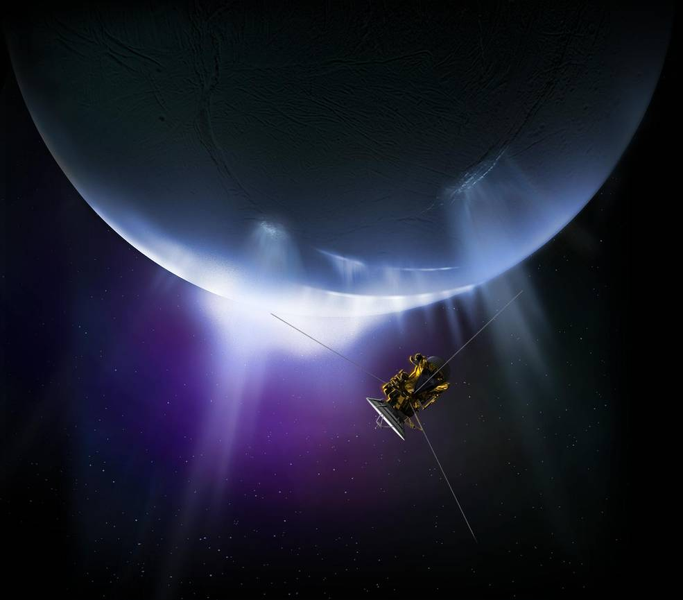 Cassini will complete its final close flyby of Saturn's active moon Enceladus on Dec. 19. - Image Credits: NASA/JPL-Caltech