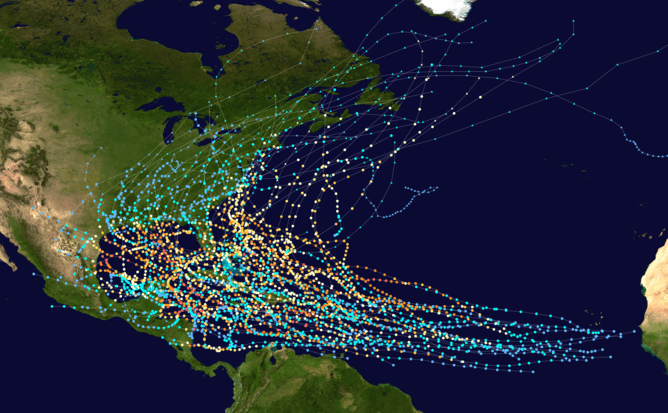 Luckily, we have more to go on now than just knowing the tracks of previous named storms - Image Credit:  Titoxd