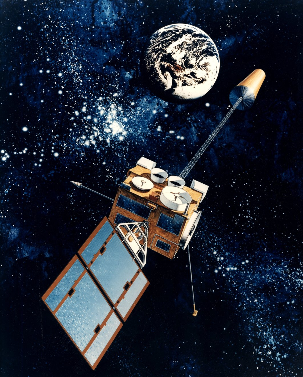 GOES satellite observing Earth – Image Credit:    NOAA Photo Library