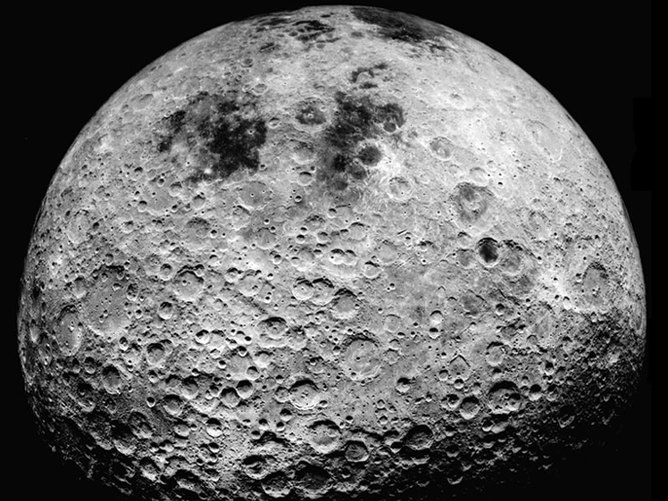 Far side of the moon, as seen from Apollo 16 - Image Credit: NASA