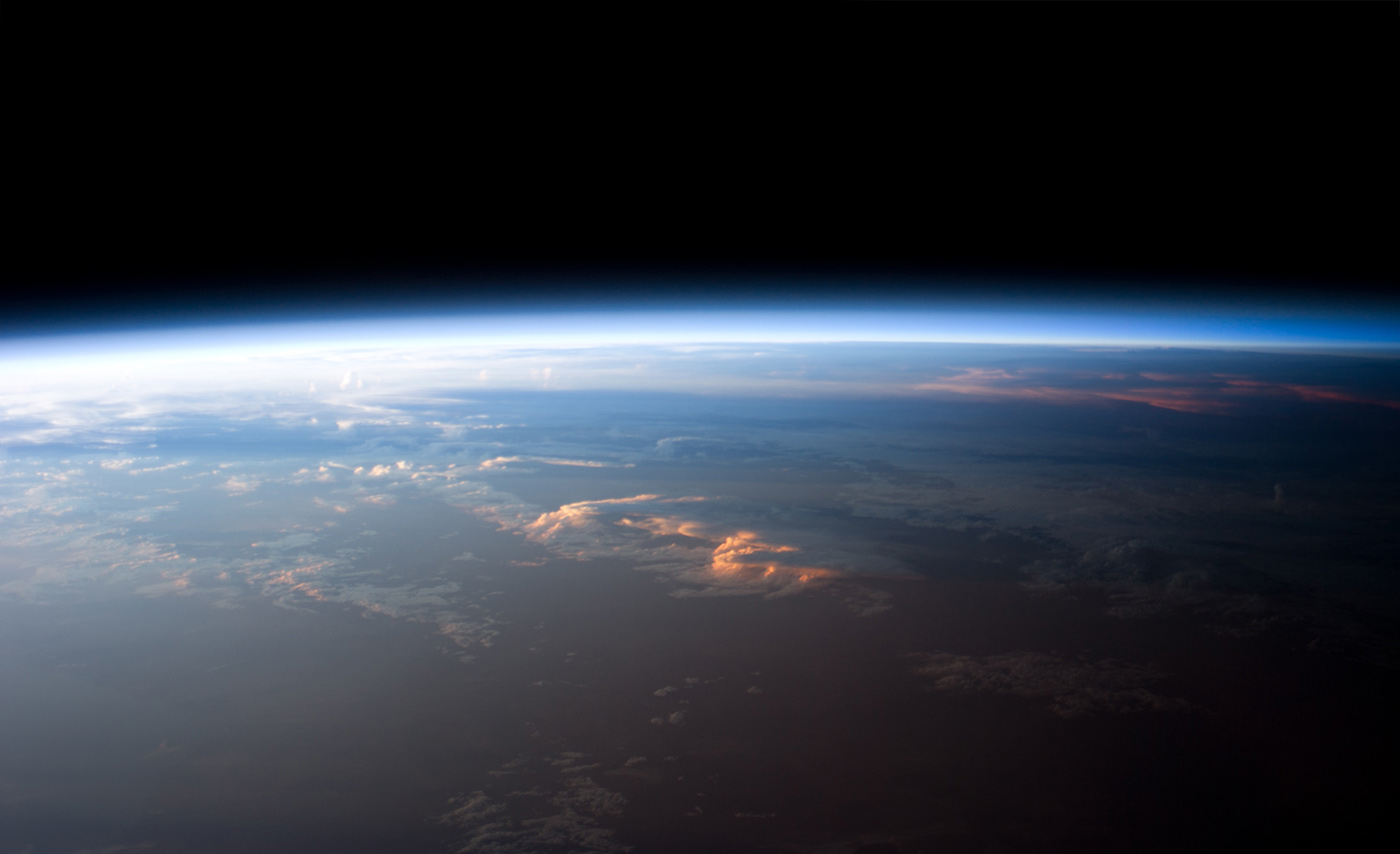 The Earth as seen from space – looks curved from up there. - Image Credit: NASA's   Marshall Space Flight Center/    Flickr