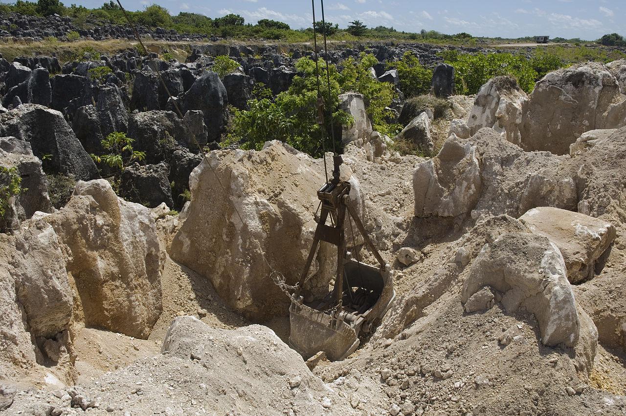 Mining of phosphate rock in Nauru in the Pacific Ocean - Image Credit:  Lorrie  Graham/AusAID