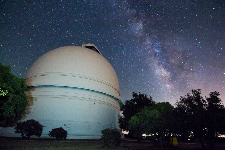 The CHIMERA instrument is located at the Hale Telescope at the Palomar Observatory near San Diego, California. - Image   Credits: Gregg Hallinan