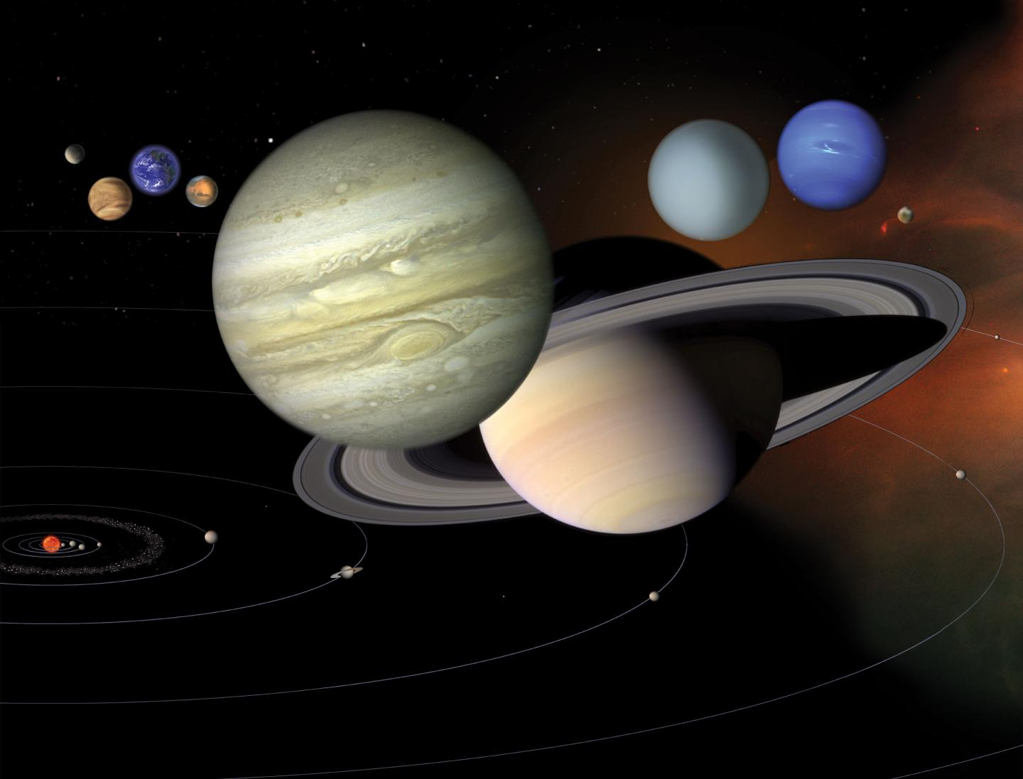 The same principal of physics that makes paint and mud crack was at work in the formation of celestial bodies of many different sizes, says a Duke engineering professor – Image Credit: NASA