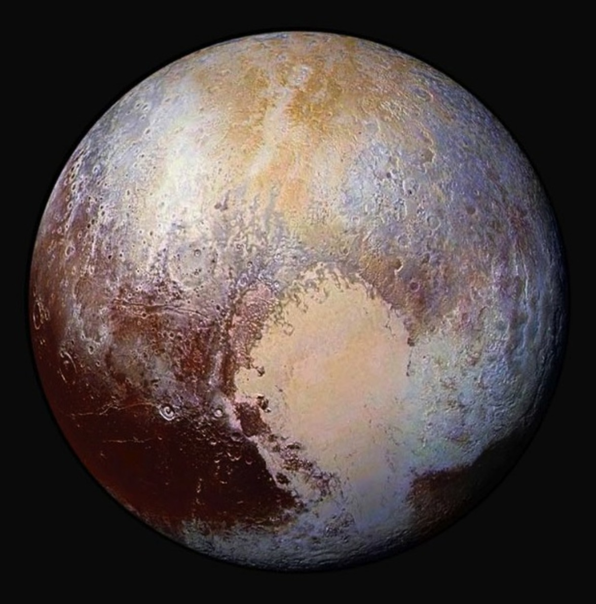 Pluto's Sputnik Planum captured hearts here on Earth. - Image Credit: NASA/Johns Hopkins University Applied Physics Laboratory/Southwest Research Institute,  CC BY