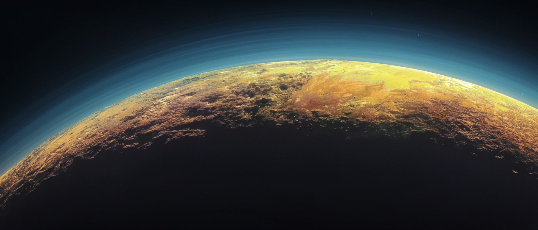 Pluto's haze is a photochemical smog. - Image Credit: NASA/Johns Hopkins University Applied Physics Laboratory/Southwest Research Institute,  CC BY