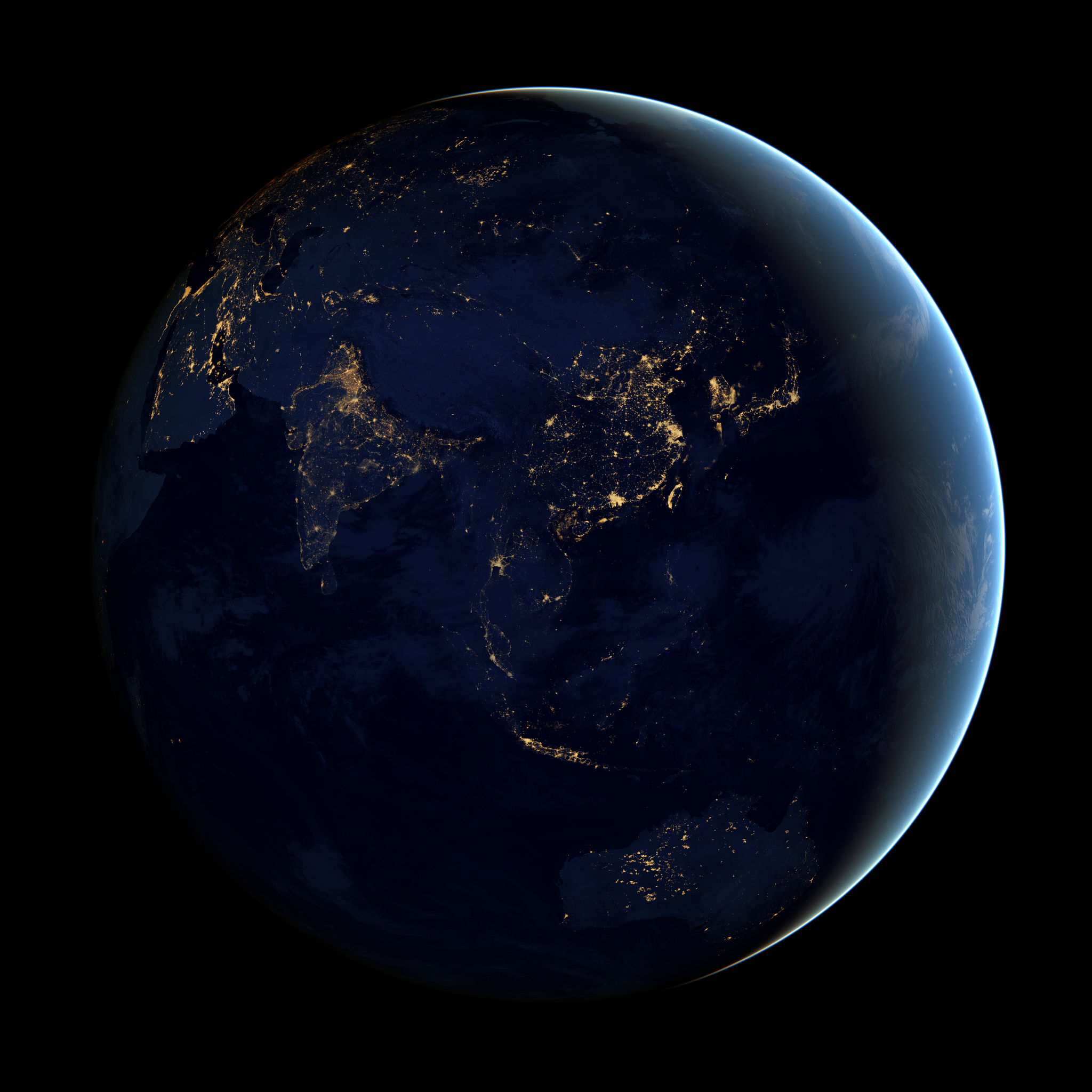 """""""For China, it looks like industrial growth [has the greatest impact on water shortages] as people get wealthier,"""" Charles Fant says. """"In India, population growth has a huge effect. It varies by region."""" - Image Credit:    NASA Goddard Space Flight Center/Flickr    CC BY"""