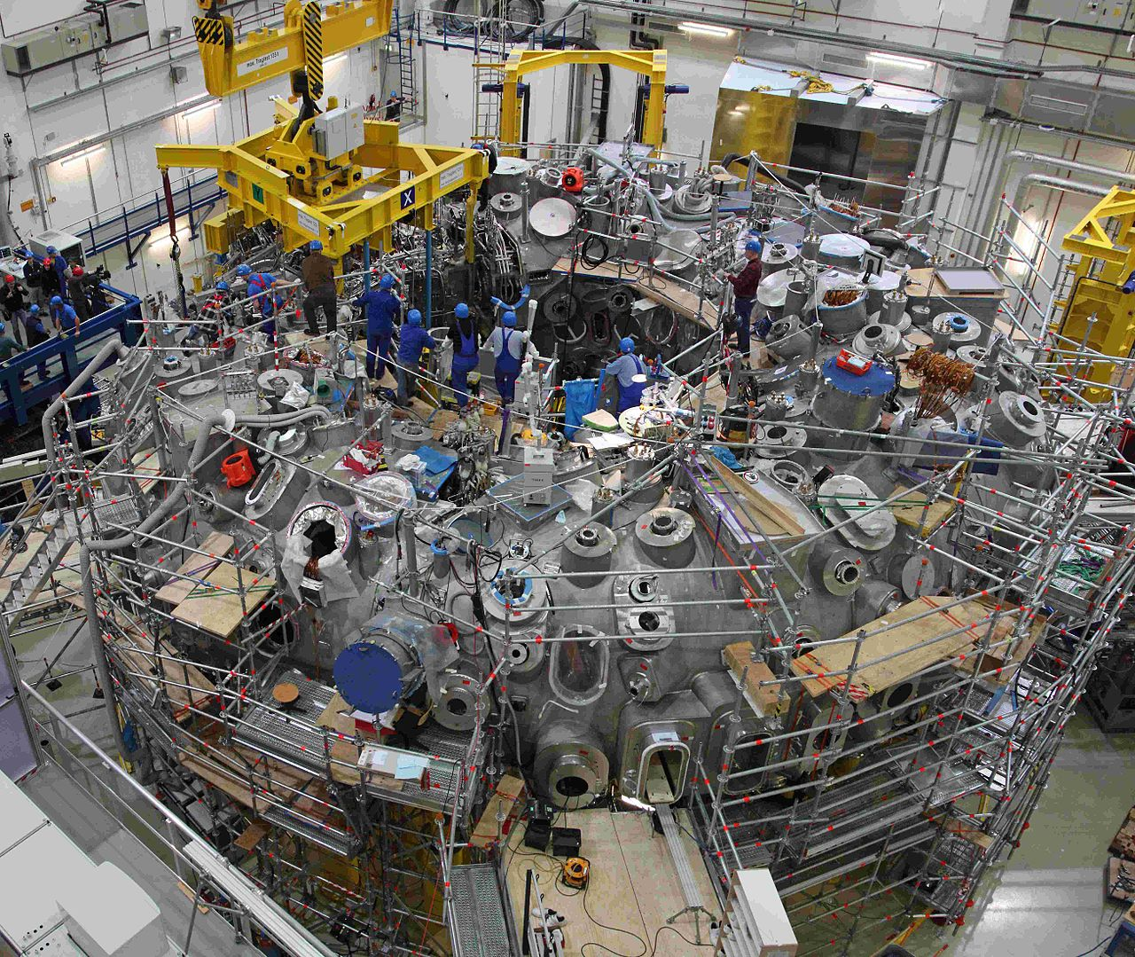 Wendelstein X - a nuclear fusion reactor in Germany. - Image Credit:  Max Planck institute/wikimedia ,  CC BY-SA
