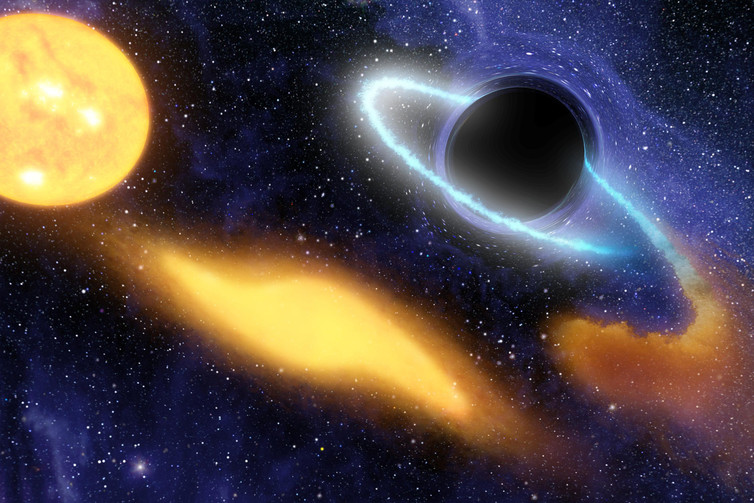 Could a supermassive black hole be to blame for the bursts? - Image Credit: NASA