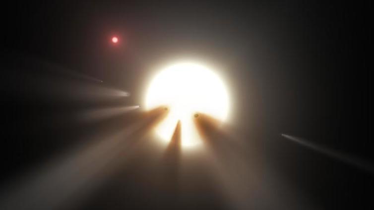 Alien megastructure or just comets? - Image Credit: NASA