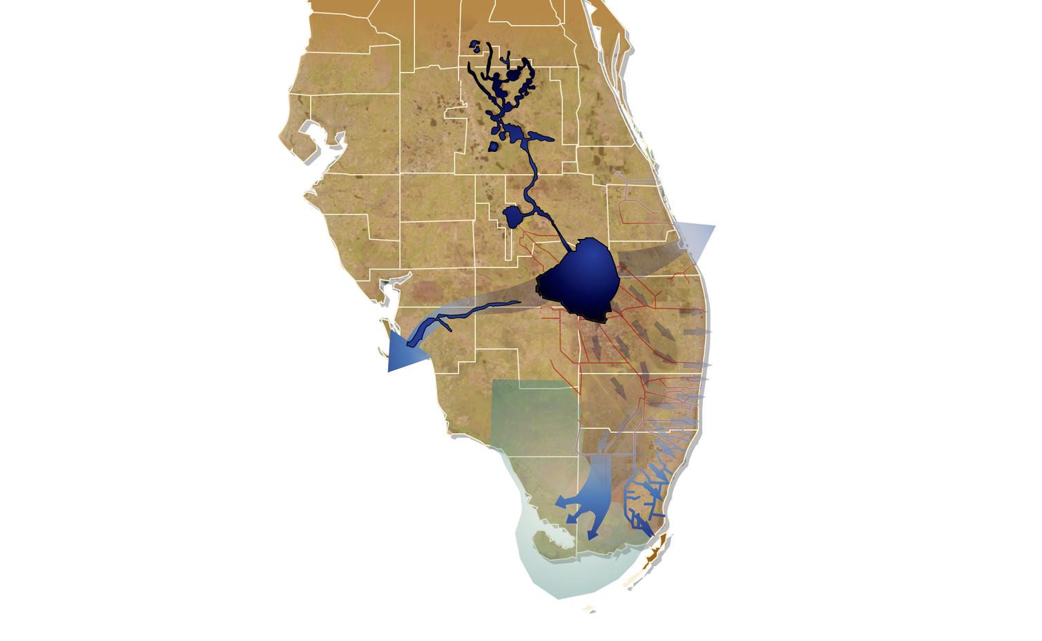 Current Everglades water flow (click for larger image). - Image Credit: Evergladesrestoration.gov