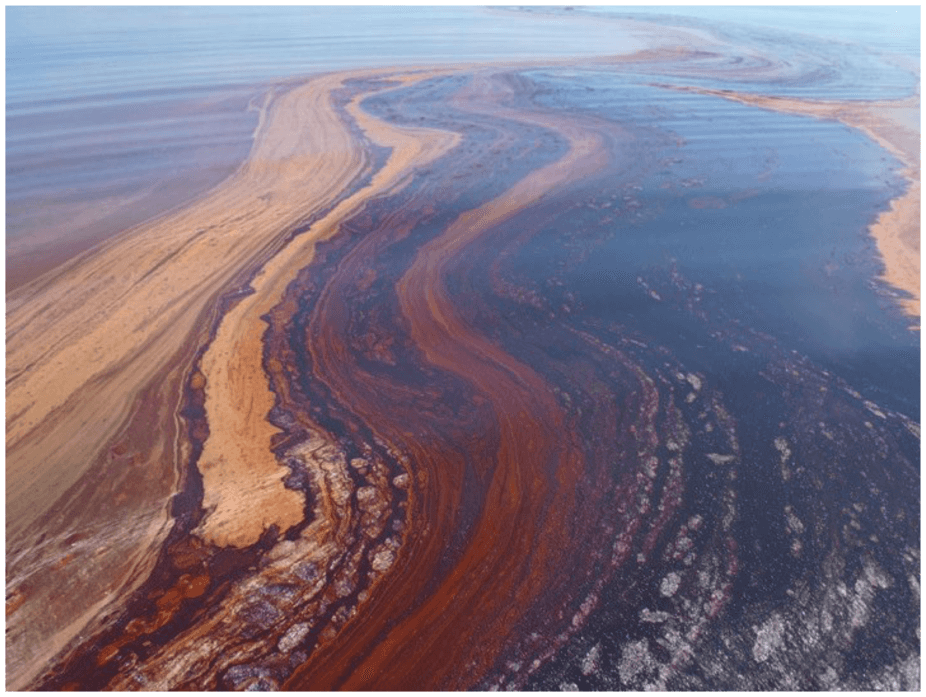 Surface oil slick from the Deepwater Horizon oil spill. Andreas Teske, University of North Carolina Chapel Hill. , Author provided