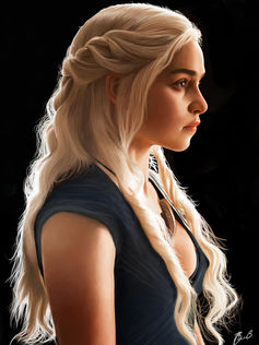 Daenerys Targaryen, often seen on the back of a dragon. - Image Credit:  brentonmb ,  CC BY