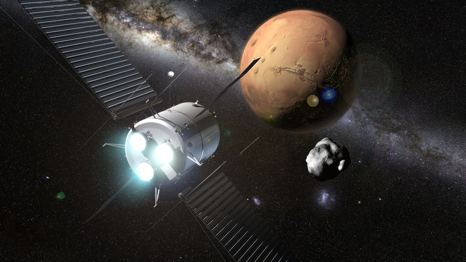 Mars mission with plasma rockets concept. - Image Credit:  NASA
