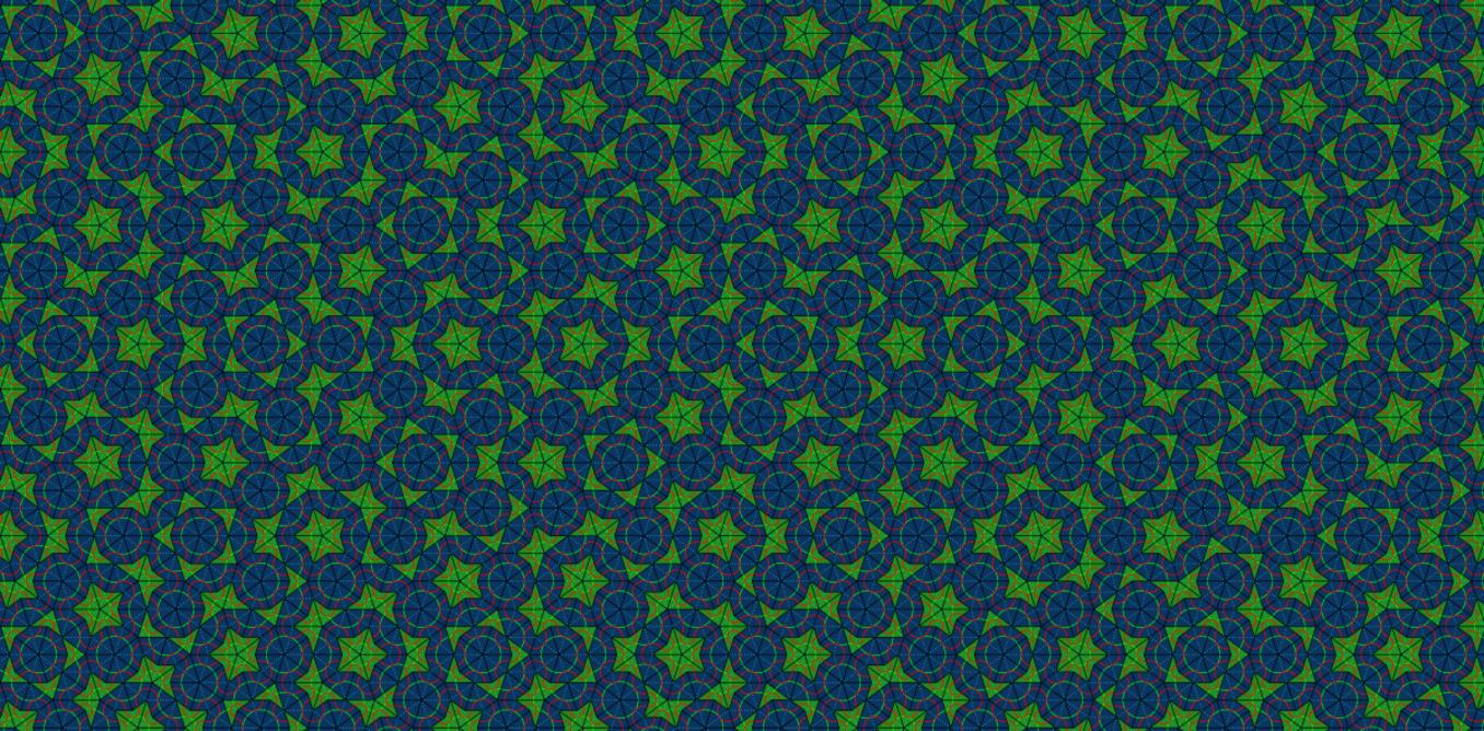 Kite- and dart-shaped tiles create never-repeating patterns. – Image Credit: PrzemekMajewski /Wikimedia, CC BY-SA