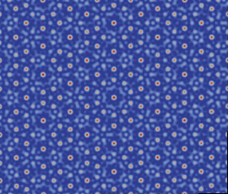Quasicrystal lattice structure. Author provided