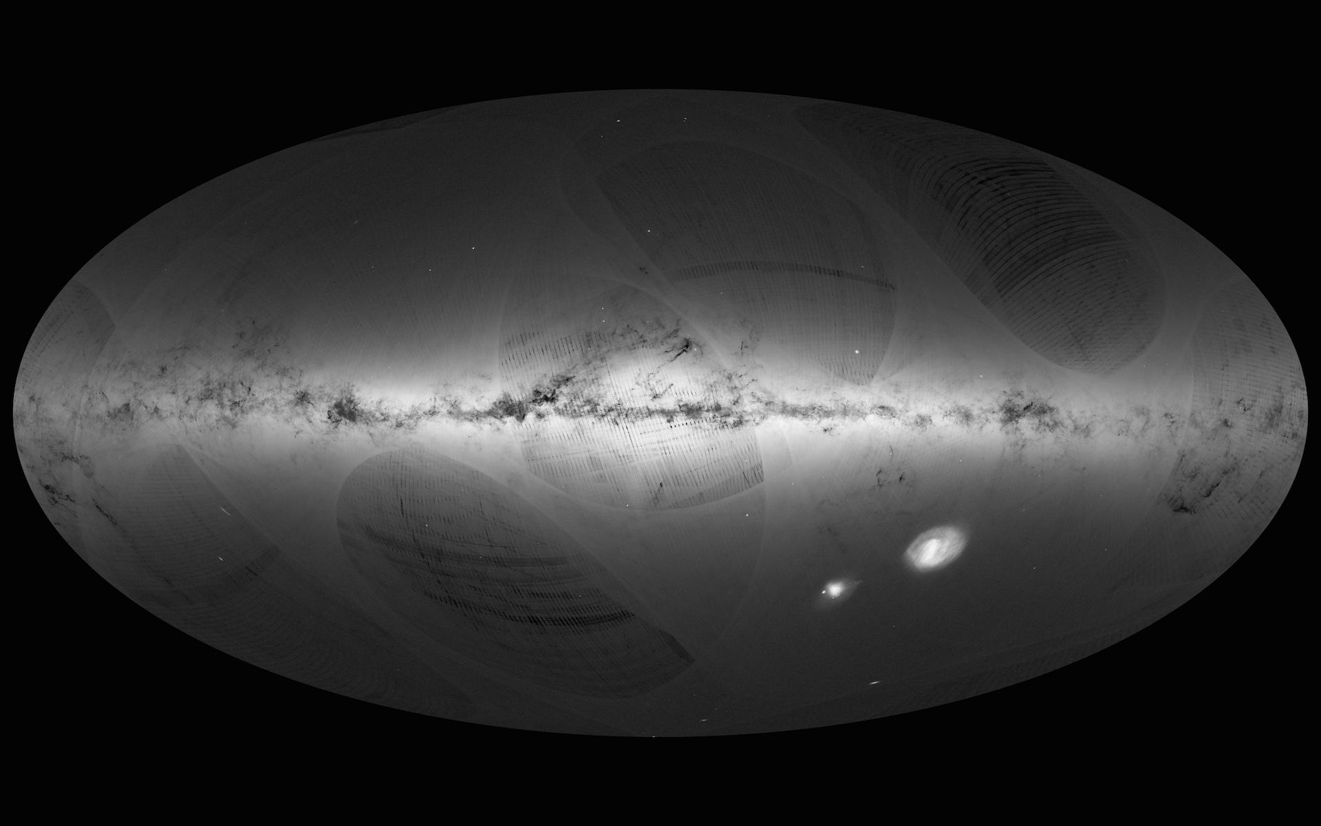 Gaia's first sky map. -Image Credit: ESA/Gaia/DPAC