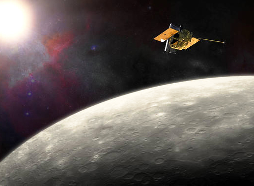 The MESSENGER spacecraft has been in orbit around Mercury since March 2011. - Image Credit: NASA/JHU APL/Carnegie Institution of Washington