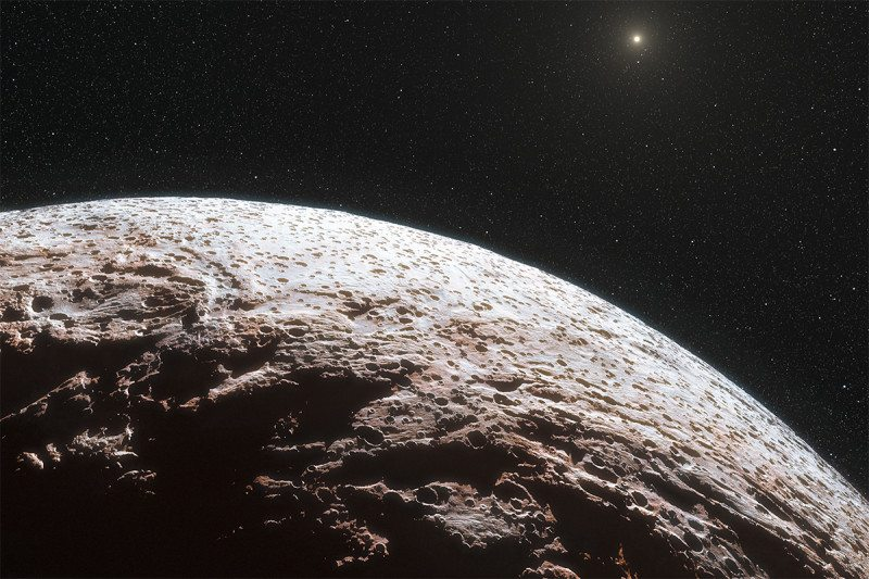 Based on data obtained by the Dark Energy Survey (DES), a team of scientists have obtained evidence of another TNO beyond Pluto. - Image Credit: ESO/L. Calçada/Nick Risinger