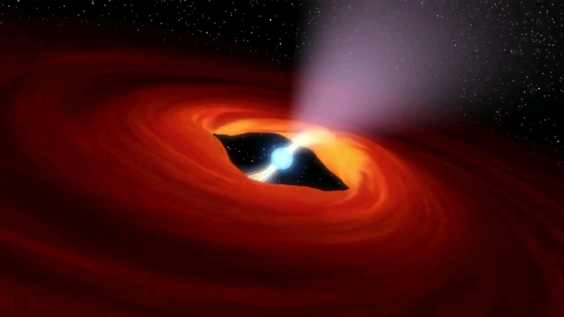 Artist's illustration of a rotating neutron star, the remnants of a super nova explosion. - Image Credit: NASA, Caltech-JPL
