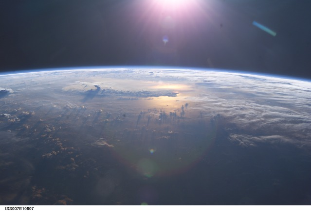 The view of the Pacific Ocean from the ISS. - Image Credit: NASA
