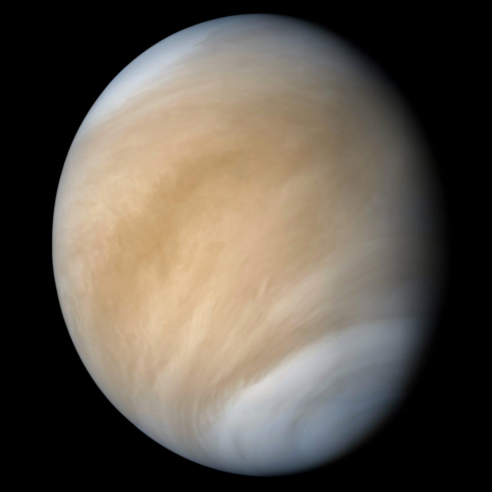 Venus as photographed by the Pioneer spacecraft in 1978. Credit: NASA/JPL/Caltech