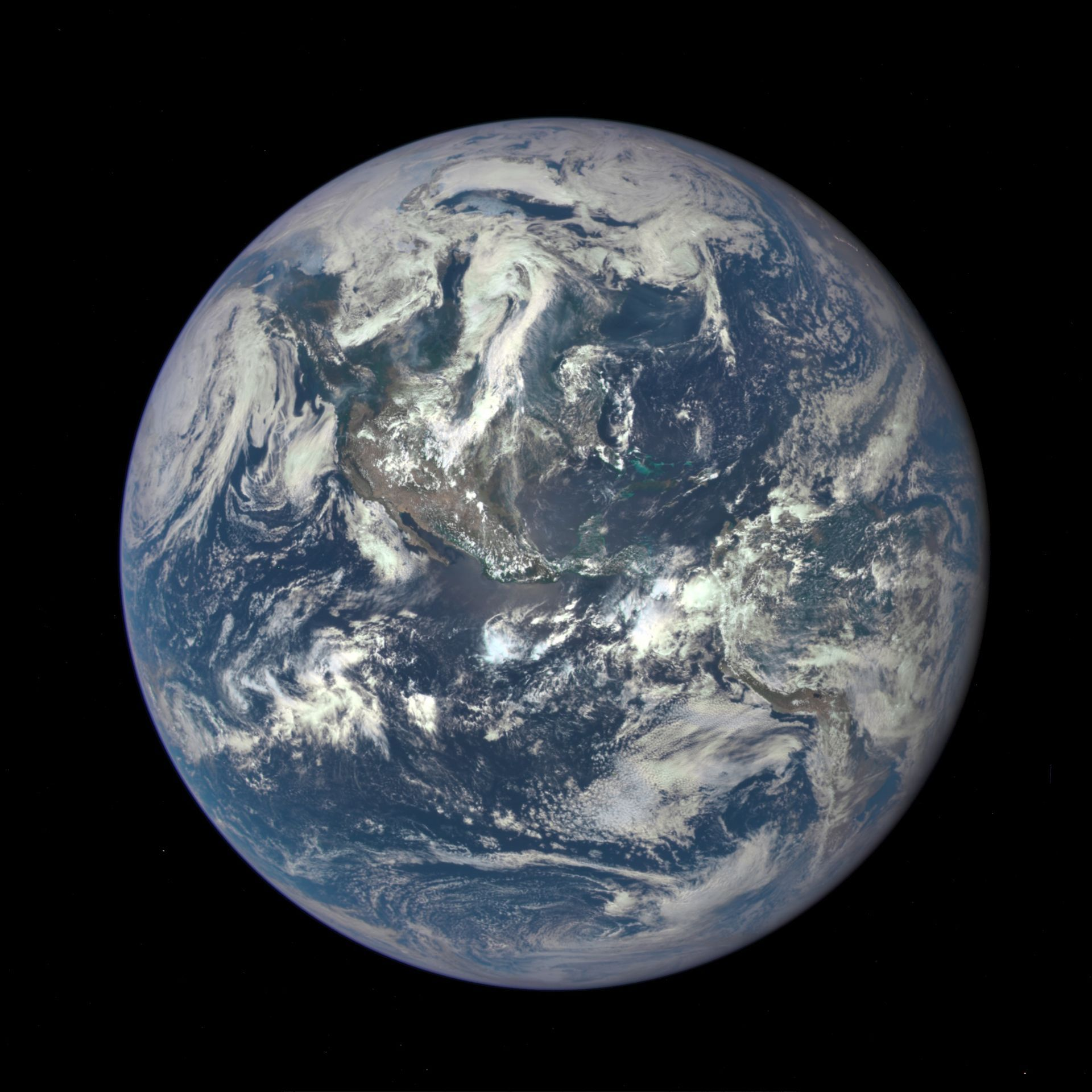Earth as seen on July 6, 2015 from a distance of one million miles by a NASA scientific camera aboard the Deep Space Climate Observatory spacecraft. - Image Credits: NASA