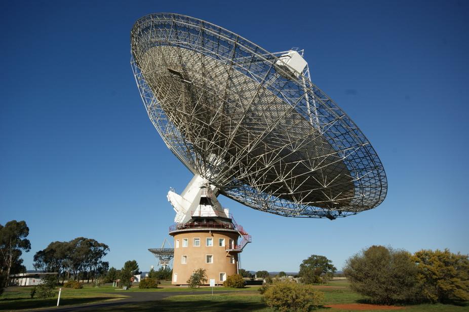 Parkes Observatory, Australia, detected the blip. - Image Credit David McClenaghan, CSIRO, CC BY-SA
