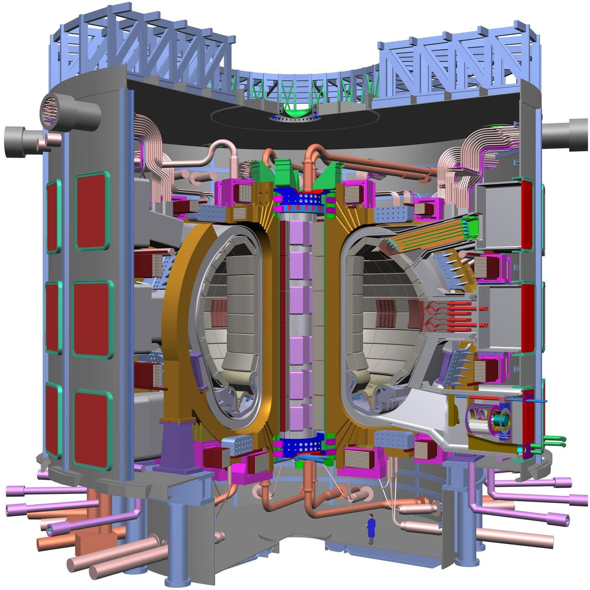 A look inside the ITER tokamak reactor. - Image Credit: ITER