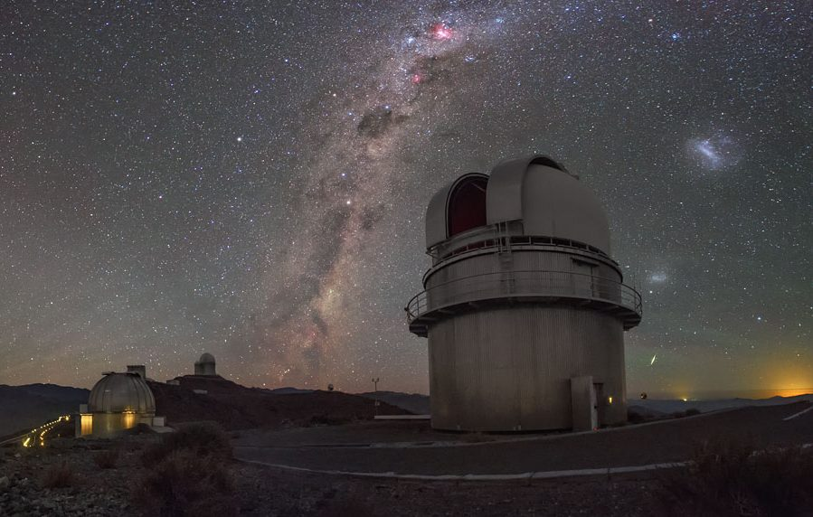 "A rare phenomena known as ""sprites"" being seen above the La Silla Observatory in Chile. - Image Credit: ESO/Petr Horálek"