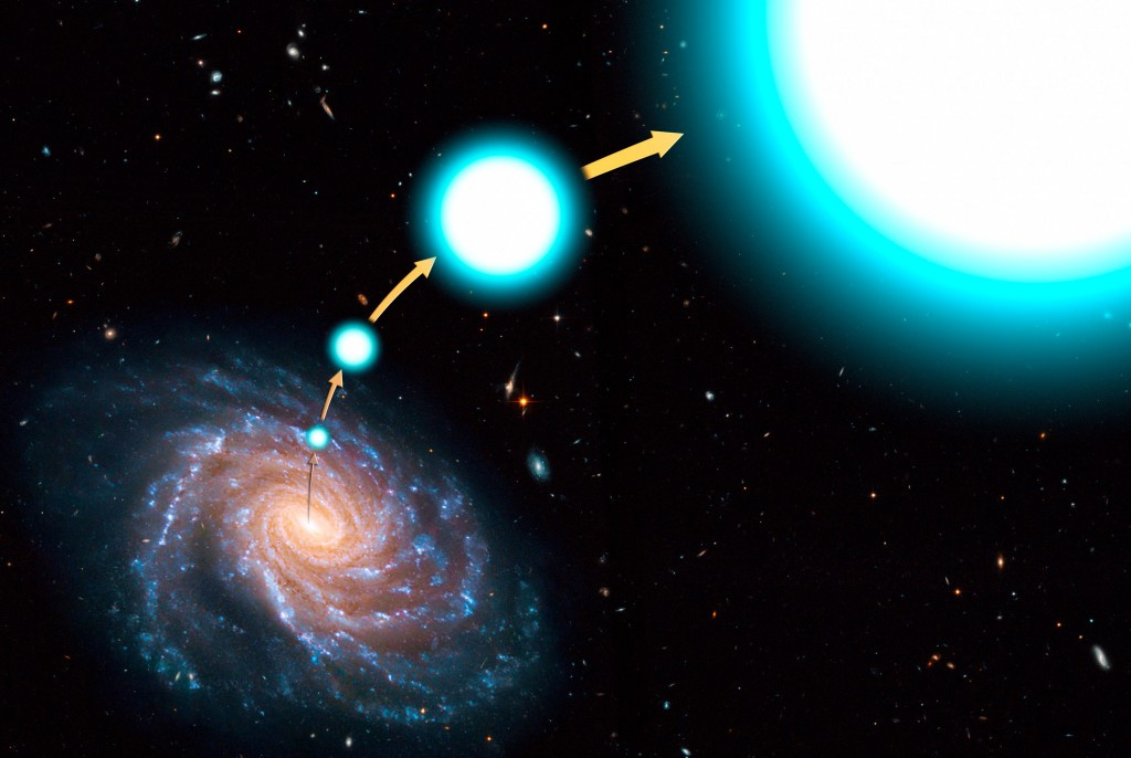 An artist's conception of a hypervelocity star that has escaped the Milky Way. - Image Credit: NASA