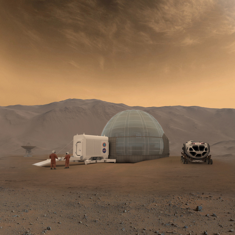 Artist concept of the Mars Ice Home. - Image Credit: NASA.