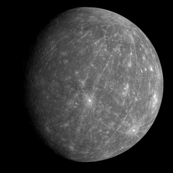 A global view of Mercury, as seen by MESSENGER. - Image Credit: NASA