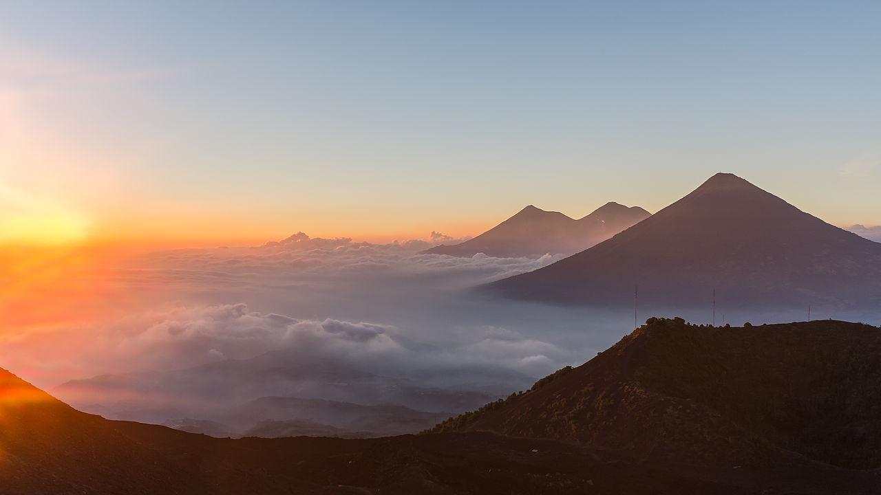Mulitiple volcanoes in Guatemala - Image Credit: Chrisopher Crouzet/WikimediaCommons