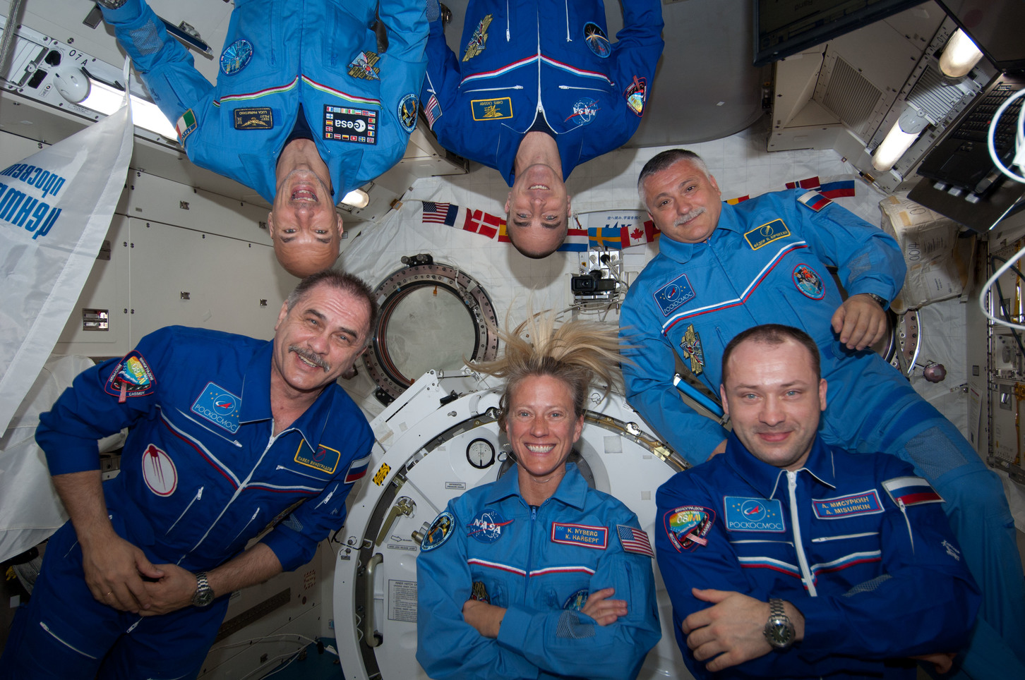 On months-long expeditions in space, astronauts' bodies have to deal with a gravity-free environment very different to what they're used to on Earth. - Image Credit:  NASA ,  CC BY
