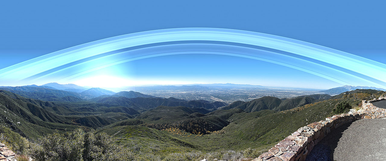 Earth's Rings over San Bernadino. Credit: Kevin Gill (CC BY-SA 2.0)