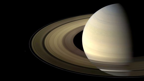 A lovely view of Saturn and its rings as seen by the Cassini spacecraft on Aug. 12, 2009. - Image Credit: NASA/JPL-Caltech/Space Science Institute.