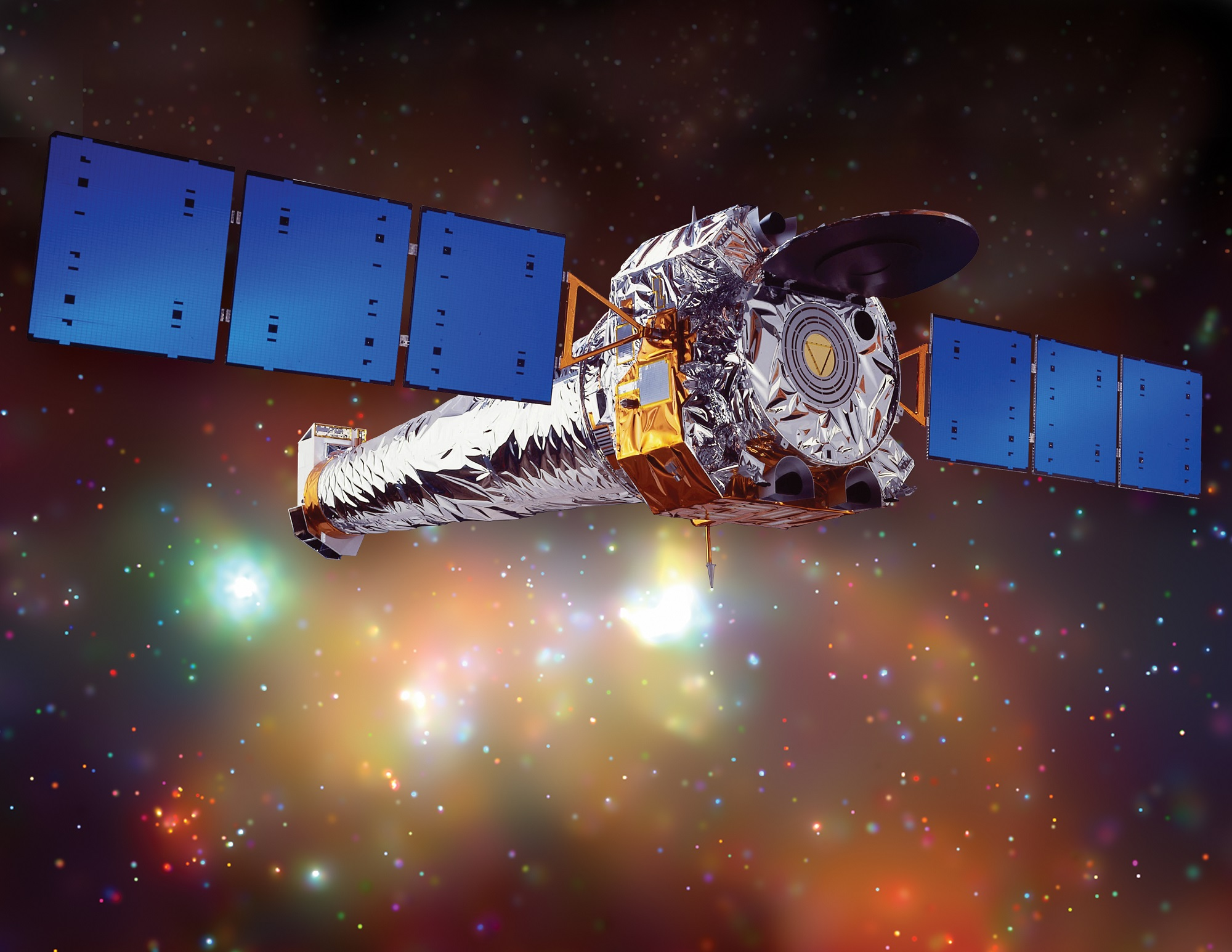 Artist illustration of the Chandra X-ray Observatory, the most sensitive X-ray telescope ever built. Credit: NASA/CXC/NGST
