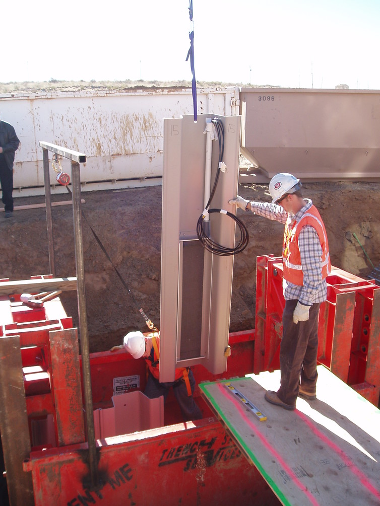 Installing an electrolytic barrier at a site with contaminated groundwater. - Image Credit: Thomas Sale, CSU,Author provided