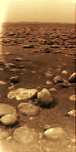 The first-ever images of the surface of a new moon or planet are always exciting. The Huygens probe was launched from Cassini to the surface of Titan, but was not able investigate the lakes and seas on the surface. Image Credit: ESA/NASA/JPL/University of Arizona