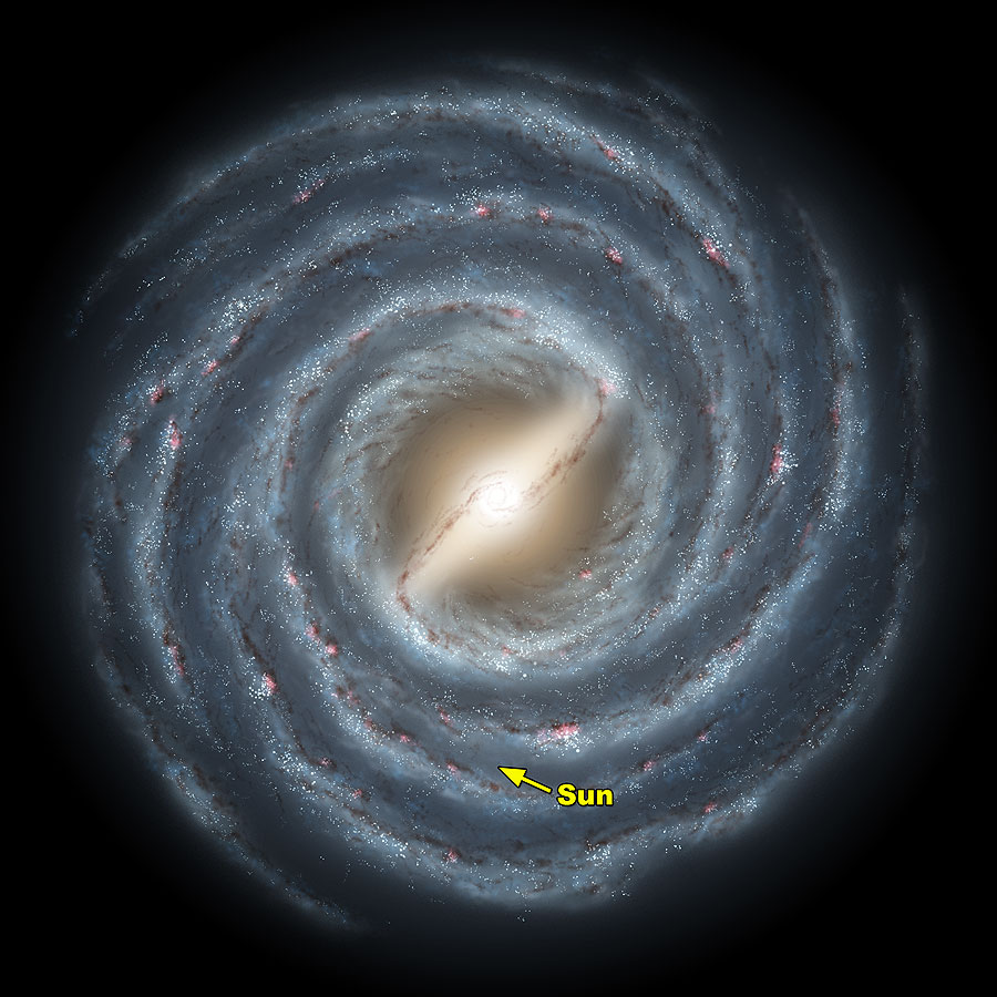 The Sun is one of billions of stars in the Milky Way Galaxy - Image Credit:  NASA/WikimediaCommons