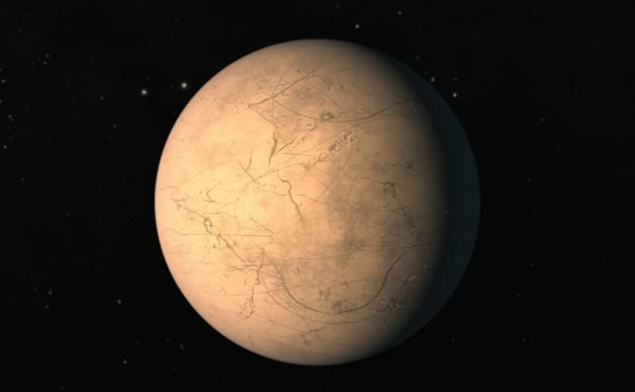 An artist's conception shows the planet TRAPPIST-1h. - Image Credit: NASA / JPL-Caltech